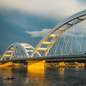 Zeleznicko-drumski most Novi Sad